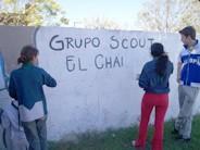 Pintada del Grupo Scout