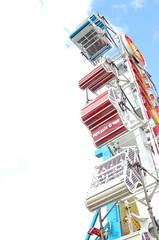 Uhhhhhh. (mynamesnate03) Tags: carnival blue red sun clouds fun ride bright fair puyallup