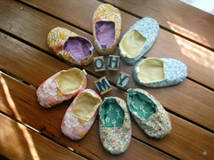 circle of love..... (shebrews) Tags: baby shoes sewing accessories slippers japanesecraft