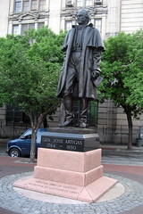 NYC - Hudson Square: General José Artigas statue by wallyg, on Flickr