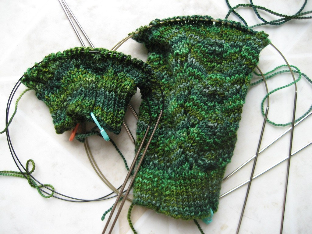 Springgrass Socks In Progress-1