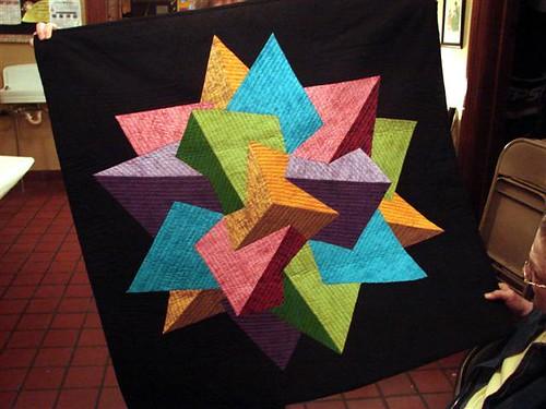 Pat Workman's modernistic quilt