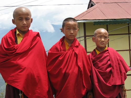 Young students in Rumtek Monastery