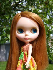 Gwyneth (Brentments) Tags: vintage spring outfit doll dress bright gorgeous redhead delicious creation kenner blythe fabulous boho 1972 2007 gwyneth sidepart dolluxe