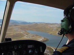 Pilots view from chopper