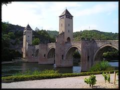 CAHORS - Le Pont Valentr , sur le Lot (lo46) Tags: france bridges lot unesco pont cahors mdival valentr