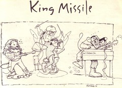 King Missile postcard 1991