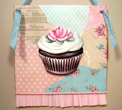 First in a brand new series of collages (holiday_jenny) Tags: pink blue roses white art kitchen floral cake collage sepia vintage baking aqua sweet chocolate cottage tan polkadots cupcake bakery handpainted ribbon frosting ruffle rickrack shabbychic