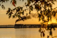 Official Sunset at Fox Lake (kdmadore) Tags: steamlocomotive steam soo1003 soo train railroad wisconsinsouthern wsor mikado sooline steamengine