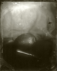 Still life with mango and knife (BosseB) Tags: se1 5x4 glassplate dryplate icahybrid platescan autaut