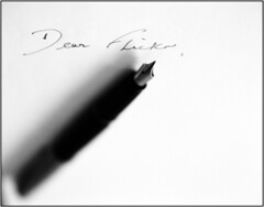 DEAR FLICKR SERIES (Tyrone Fleming) Tags: pen ink hasselblad fountainpen h1 parkerpen dearflickr hasselbladh1