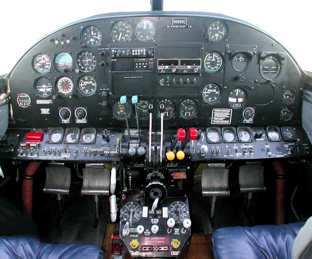 Beechcraft C-45H Panel