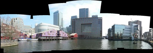 Docklands dock with flats