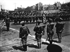 Japanese Brigade in Manchuria (scotcrow) Tags: china family sun japan vintage army japanese rising photo 1930s uniform dalian sword matsumoto brigade occupation manchuria manchukuo