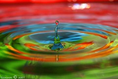 water drops 2          -    RGB (Sulaiman_Q8) Tags: sulaiman alsalahi kuwait kuw kwt q8 canon 400d ksc kscg 1855mm water drops wow bravo wonderful colorful supershot