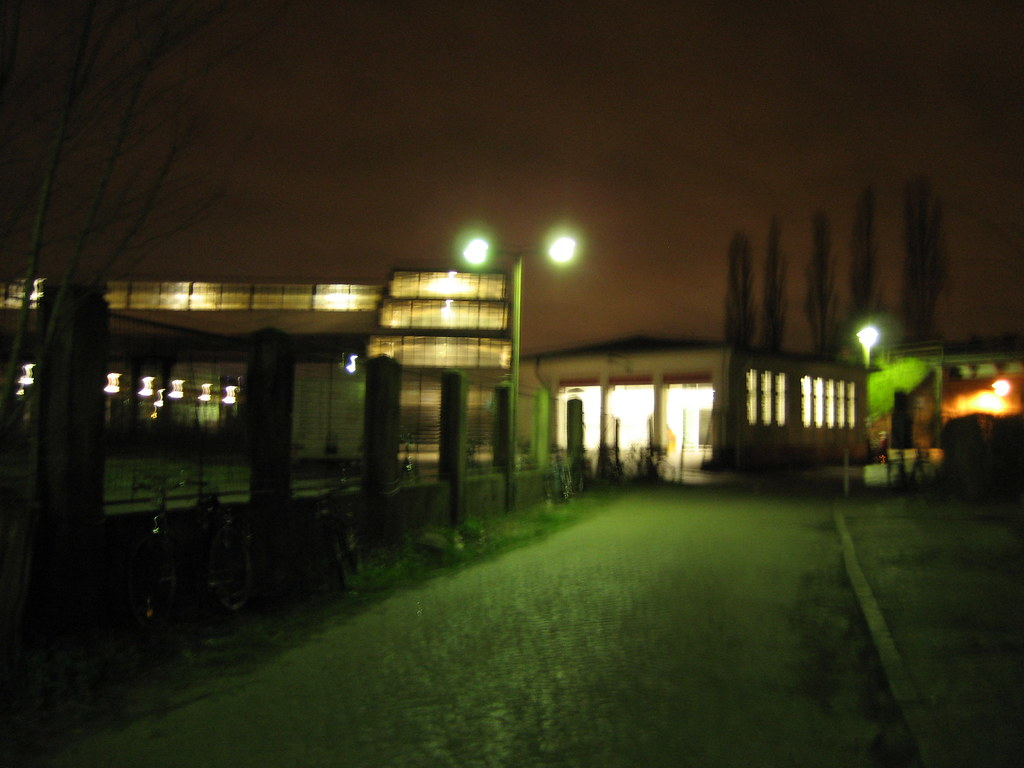 ostkreuz station at night