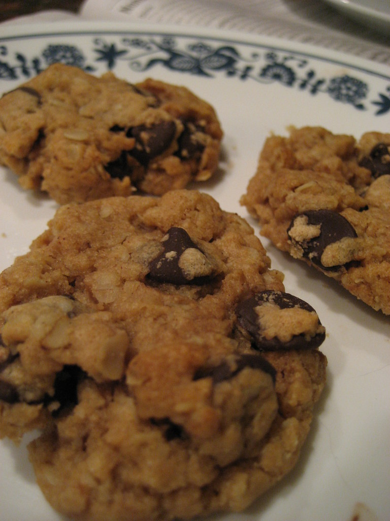 peanut-butter chocolate-chip cookies
