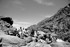 The group - BW ((fez)) Tags: bw atlasmountains morocco armed