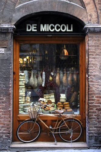 Food store with bicycle