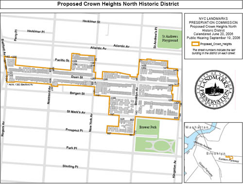 Crown Heights Hist Dist Map
