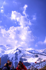 mountain view (* Thierry *) Tags: blue light sky cloud mountain snow france color colors montagne d50 landscape nikon lumire scout ciel neige nuage paysage hdr couleur 2007 bleue samoens exploreinterestingness~