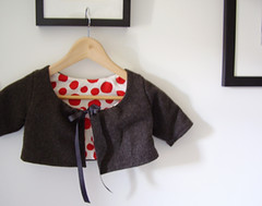 Swing Coat (6.5st) Tags: red wool handmade sewing coat swing cashmere coats dots babyclothes