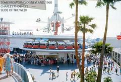 The New Tomorrowland at Disneyland, courtesy of CharlesPhoenix.com. (1968)
