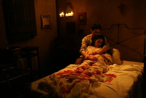 the bedroom scene