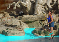 Painting the Trevi Fountain