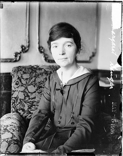Margaret Sanger, photographed in 1916.