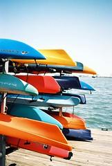 Kayaks, Fells Point, Baltimore Harbour (artandscience) Tags: leica baltimore 90mm m2 gold100 elmarc