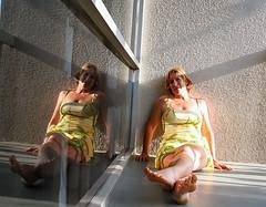 365 Day 81: Vacation: Hotel Balcony, Sunset (jump4joy) Tags: california travel vacation selfportrait reflection window balcony 365 365days challengeyouwinner