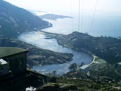 zaro (Dumbra) (-Fernando- d[^_^]b) Tags: ro landscape paisaje galicia galiza views vistas atlntico paisaxe ocano desembocadura xallas zaro dumbra fernandiscolp flpfototag