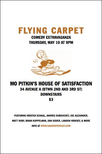 """Flying Carpet"" on Thursday"