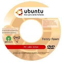 Label para DVD Ubuntu 32bit pt_BR