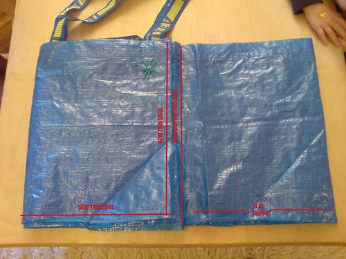 59 Cent Diaper Bag, from Ikea: Step 4