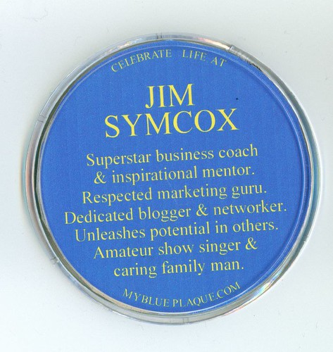 Jim Symcox - Blue Plaque