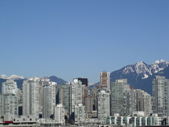 Vancouver from PHSA (Steven Hart) Tags: city mountains vancouver buildings cityscape snowcapped