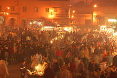 Marrakech New Year's Eve (PigFromSpace) Tags: christmas crowd morocco marrakech travelphotography djemaaelfna