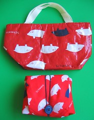 "Insulated ""Schwein"" lunch cloth and bag"
