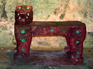 Chichen Itza, sub-Castillo, Red Jaguar Throne