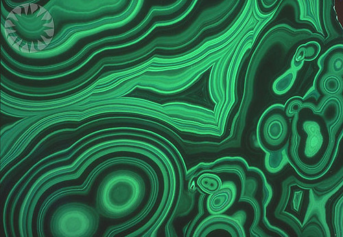 Malachite's Concentric Swirls