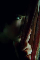 (Jake Hegel) Tags: photoshop dark nikon quiet curtain mysterious d40