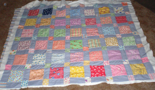 Feedsack quilt - quilted