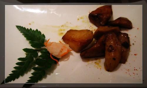 前菜~陶板原塊牛肉