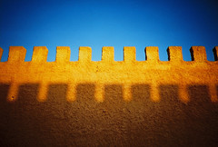 Essaouira city wall (lomokev) Tags: old blue shadow sky sunlight castle yellow wall lomo lca lomography fort lomolca morocco minimalism agfa ultra minimalist essaouira lomograph citywall agfaultra rota:type=showall rota:type=cityscape rota:type=stilllife file:name=070510lomolcaf48 image:selection=tombing