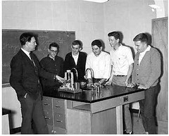 Physics Instructor Clyde Van McKinney and Students-1964-1965 (Library @ Randolph Community College) Tags: north carolina asheboro randolphcommunitycollege randolphindustrialeducationcenter