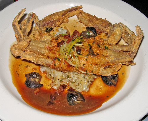 Fried Soft Shell Crab & Escargots
