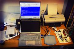 Computer setup (Anne Helmond) Tags: home computer desk setup