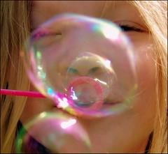 Bubble-icious ! ! ! (*janh*) Tags: pink sun sunshine fun spring smiles delight bubble giggle bubblegirl abigfave pinkalicious bubbleicious